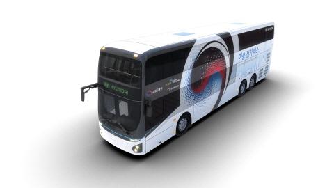 현대자동차, 이층 전기버스 최초 공개