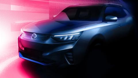 쌍용자동차, 첫 전기차 E100 티저 이미지 공개