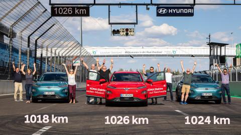 현대자동차 코나 일렉트릭, 1회 충전으로 1026km 주행 성공