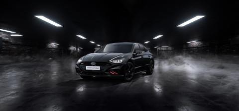 현대차, 쏘나타 N 라인 디자인 특화 모델 '더 블랙' 한정 판매...